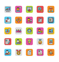 Human resource icons set 1 vector