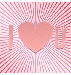 I love You Realistic Valentines Day paper Symbols vector image