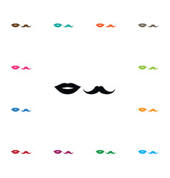 isolated lips icon moustache element can vector image