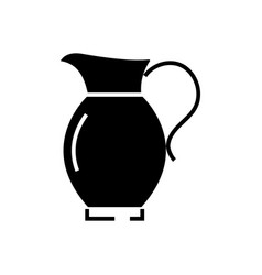 jar icon black sign on vector image