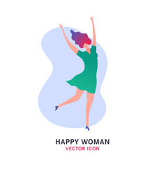 jumping woman icon vector image