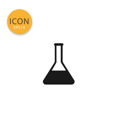 laboratory chemical glass lab icon isolated flat vector image