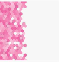 light pink random hexagon mosaic tiles background vector image