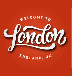 london lettering postcard vector image