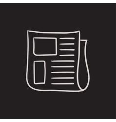 Newspaper sketch icon vector image