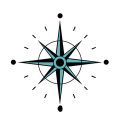 north star compass to navigation direction vector image