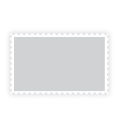 old blank postage paper stamp frame on white vector image
