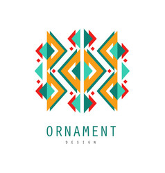 ornament logo design template for label ornate vector image