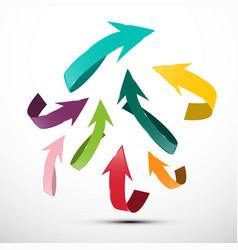 paper cut arrows up arrow symbol vector image