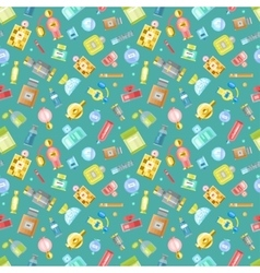 Perfume glamour seamless pattern vector image