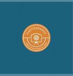 Photograph badge or label design vector