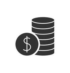 pile with coins black icon vector image
