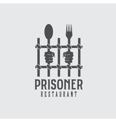 Prisoner restaurant concept design template vector