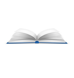 realistic detailed 3d white blank open book vector image