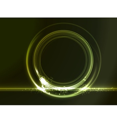 round placeholder with green light effects vector image
