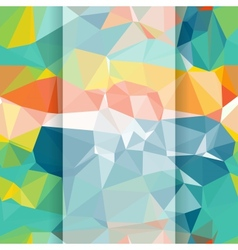 Seamless abstract geometric pattern with triangles vector