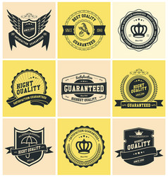 set badges and labels vector image