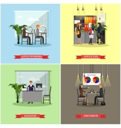 set of business presentations and meetings vector image