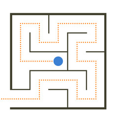 Simple maze vector