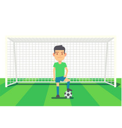 soccer goalkeeper keeping goal vector image vector image