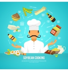 Soy food concept vector image