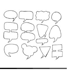 speech bubble hand drawing design vector image