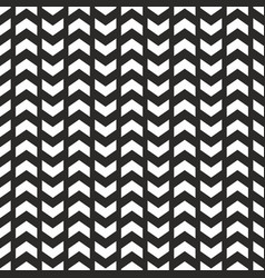 tile pattern with white arrows on black background vector image