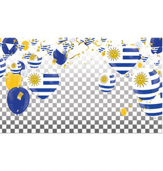 uruguay flags and uruguay balloons garland with vector image