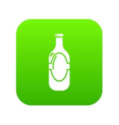 vodka icon green vector image
