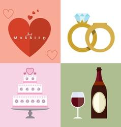 Wedding accessories Set II vector image