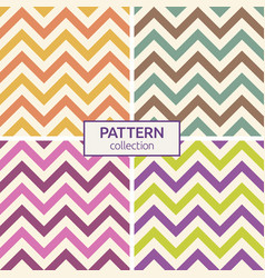 zigzag color lines seamless patterns vector image