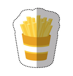 fries french fast food icon vector image vector image