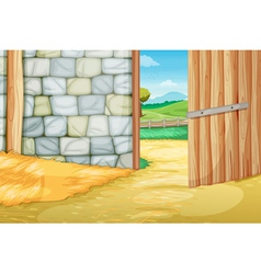 Inside the barn vector image vector image