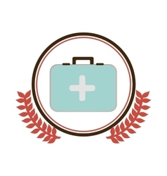 Medical care symbol vector image
