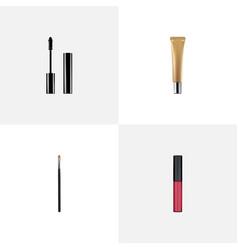 realistic liquid lipstick collagen tube brow vector image