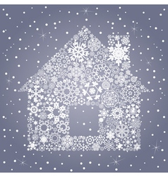 Snowflake the house vector image