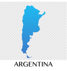 Argentina map in south america continent design vector