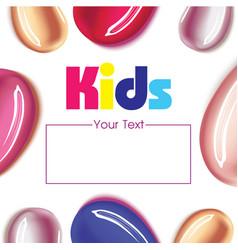 baby kids children design template vector image