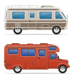 car mobile home 05 vector image