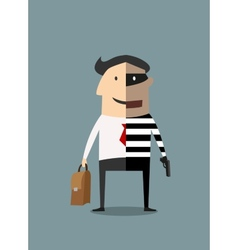 Dual lifestyle businessman and thief vector image