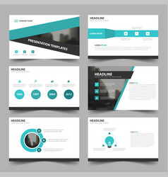 green triangle abstract presentation templates vector image