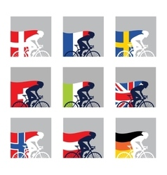 international competition European cyclist with vector image vector image