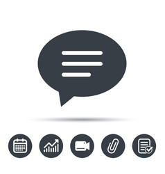 speech bubble icon chat sign vector image vector image