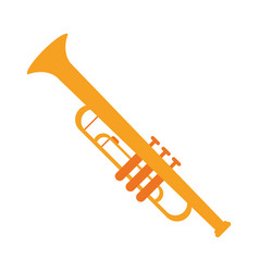 trumpet musician instrument icon vector image vector image
