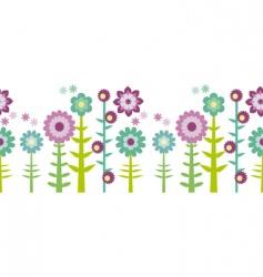 flower pattern border vector image vector image