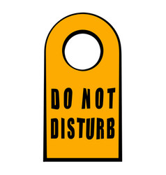 label do not disturb icon cartoon vector image