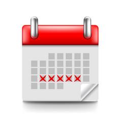 menstruation calendar isolated on white vector image