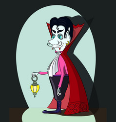 Cartoon vampire vector