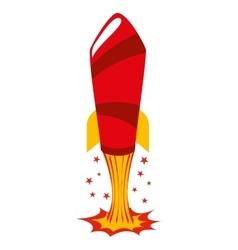 rocket comic pop art vector image