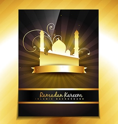shiny golden template vector image vector image